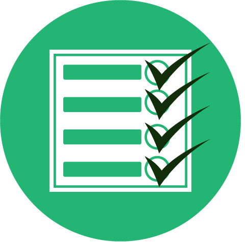 This is a green check list.This picture of a green check list icon represents  A & B transportation being your number one service in south florida to ansport you to all the events and activities you have planned.